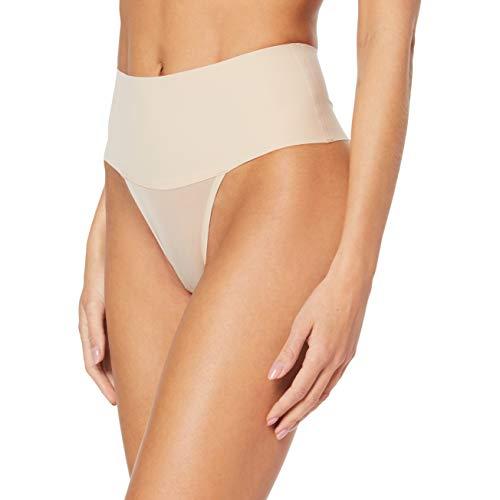Spanx Damen Taillenslip Undie-Tectable Thong, Beige (Soft Nude 0), 32 EU  (Herstellergröße: XS)