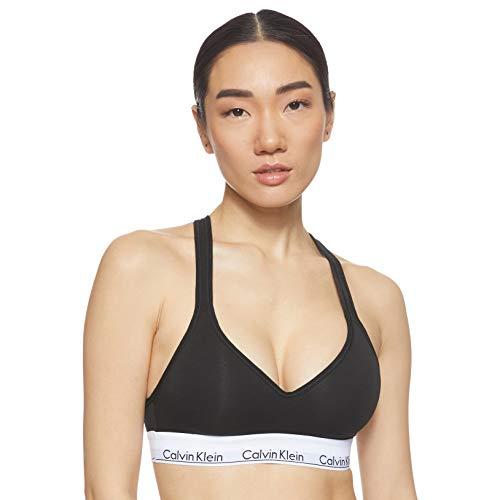 Calvin Klein Damen Bustier Bralette Lift BH, Schwarz (Black 001), M